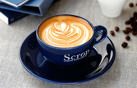 Scrop COFFEE ROASTERS ラテアート
